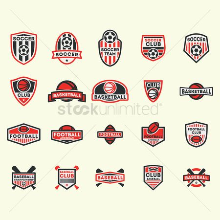 体育 : Collection of various sports labels