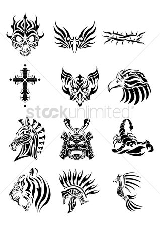 动物 : Collection of various tribal tattoos