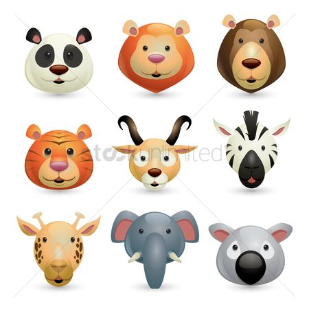 向量 : Collection of wild animals