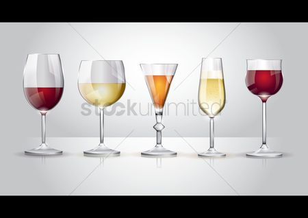 庆典 : Collection of wine glass