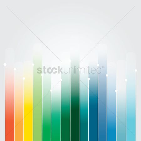 信息图表 : Colorful graph bars