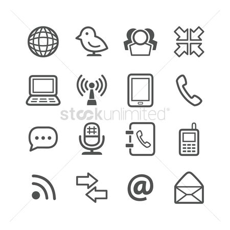 标志 : Communication icons