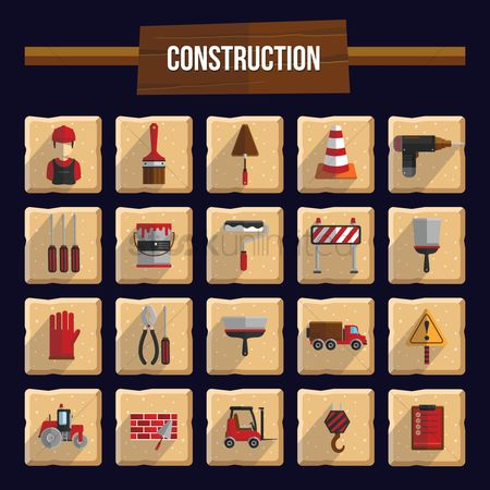 标志 : Construction icons