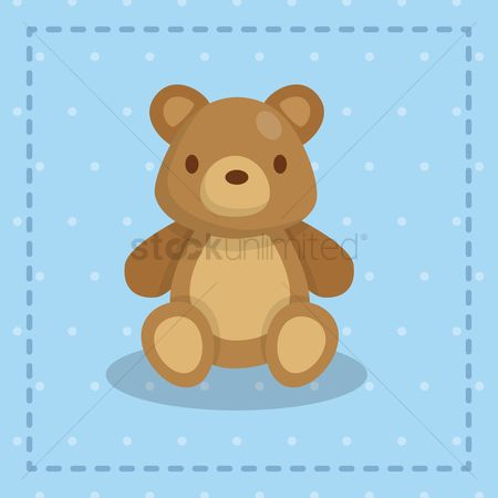 动物 : Cute teddy bear