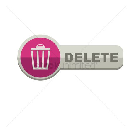 垃圾 : Delete button