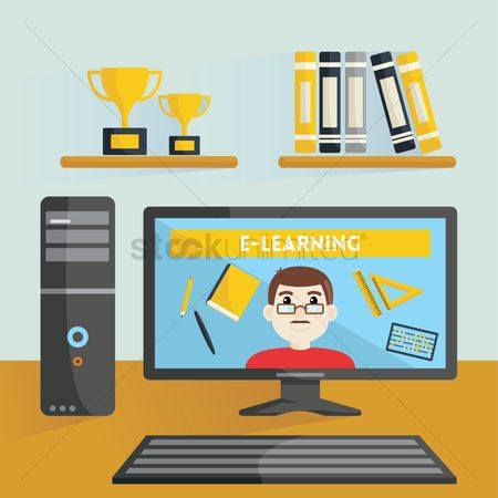 学校 : E-learning at home