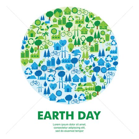 环境 : Earth day icon concepts