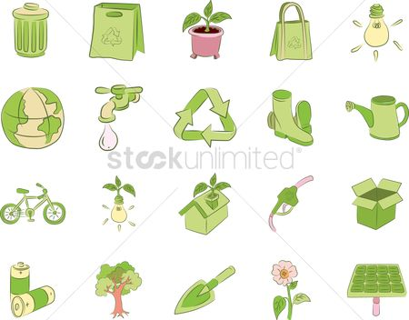 垃圾 : Eco friendly icons