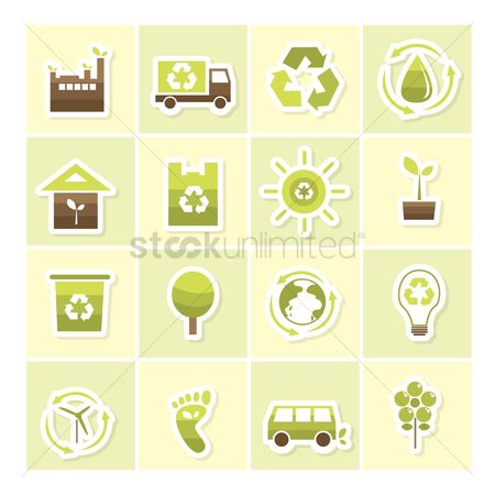 环境 : Eco friendly icons