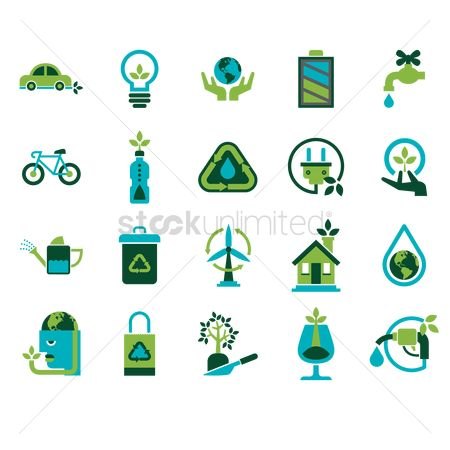标志 : Eco friendly icons