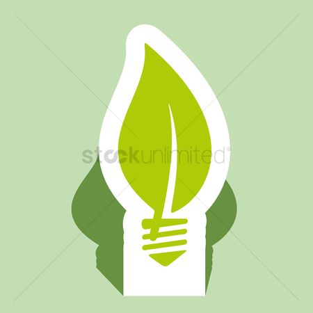 标签 : Eco light bulb concept