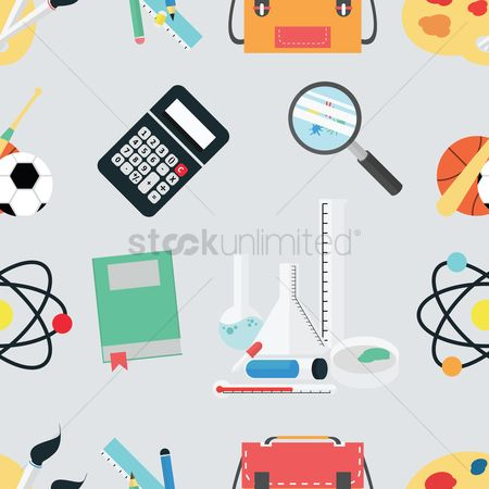 学校 : Education theme background