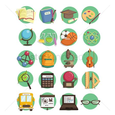 学校 : Educational icons