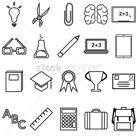 插图剪贴画 : Educational icons