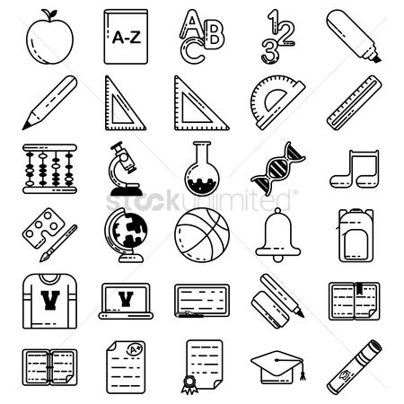 平方 : Educational icons