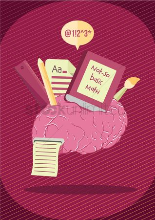 向量 : Educational subjects on brain
