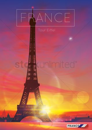 房屋地标 : Eiffel tower poster