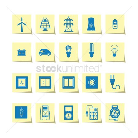标志 : Electrical power and appliance icon set