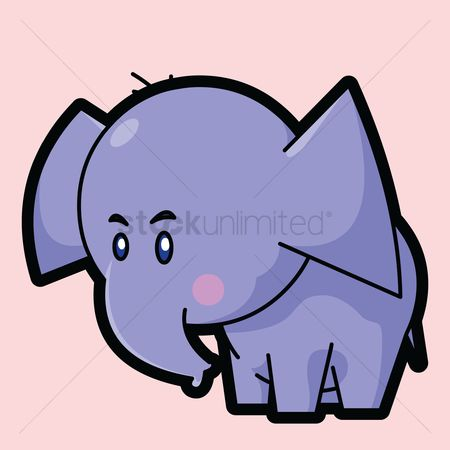 花色 : Elephant on a pink background