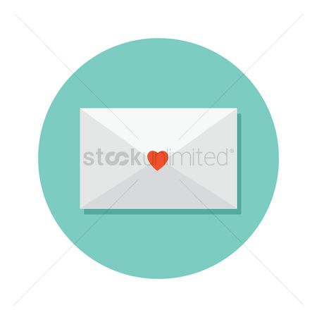 请帖 : Envelope with heart