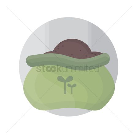 环境 : Fertilizer sack icon