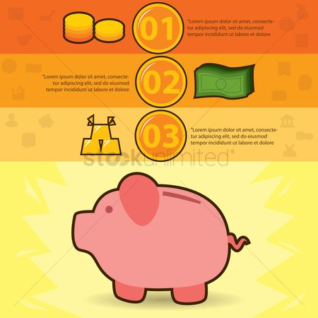 数据 : Financial infographic