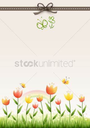 色带 : Floral background design