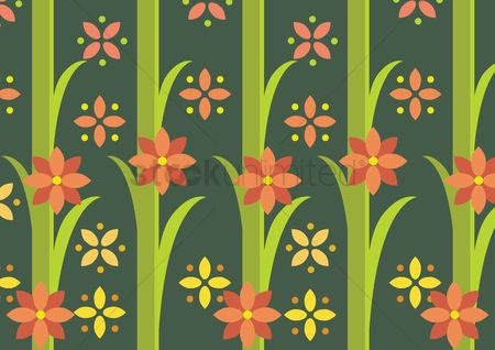 面料 : Floral background
