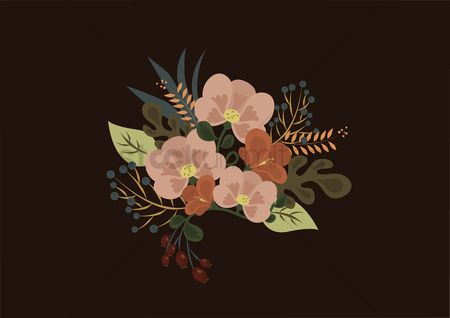 标签 : Flowers sticker