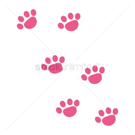 插图剪贴画 : Foot prints of dog