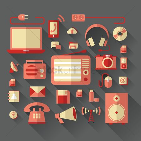 向量 : Gadgets and technology icons
