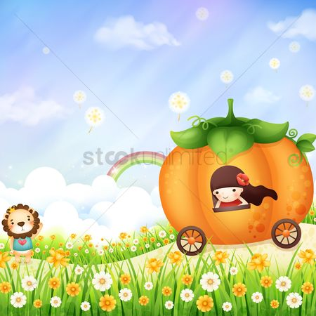 漫画 : Girl in a pumpkin carriage