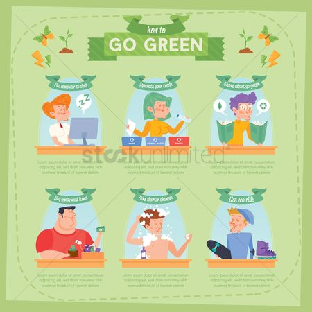 垃圾 : Go green infographic