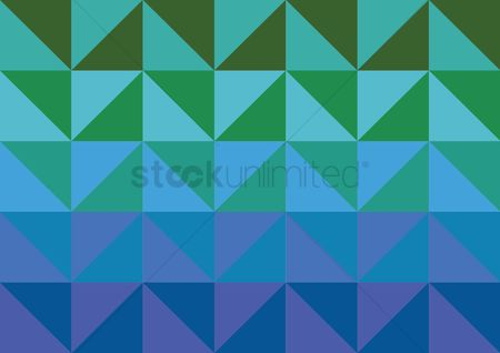 运动 : Gradient triangle pattern