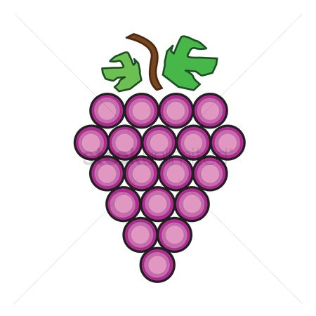 插图剪贴画 : Grapes isolated over white background