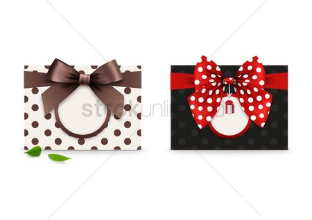 色带 : Greeting card with a ribbon