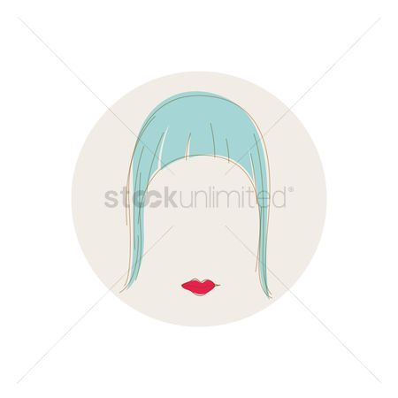 美女时尚 : Hairstyle with stylish fringe