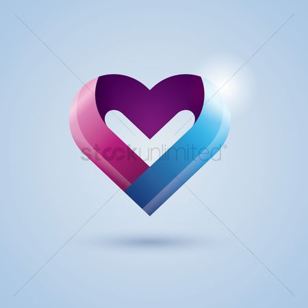 心脏 : Heart ribbon icon