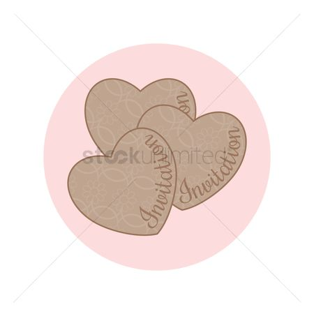 请帖 : Heart shape invitation cards