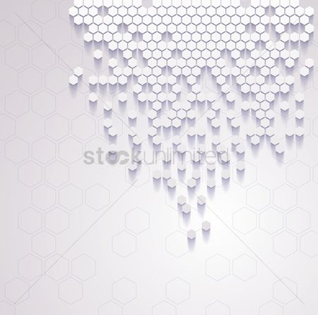 抽象化 : Hexagon design background