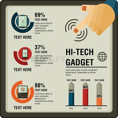 业务 : Hi-tech gadget infographic