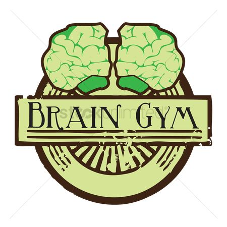 标签 : Human brain with brain gym label