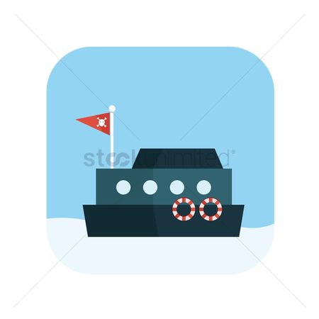 运动 : Icon of a pirate vessel
