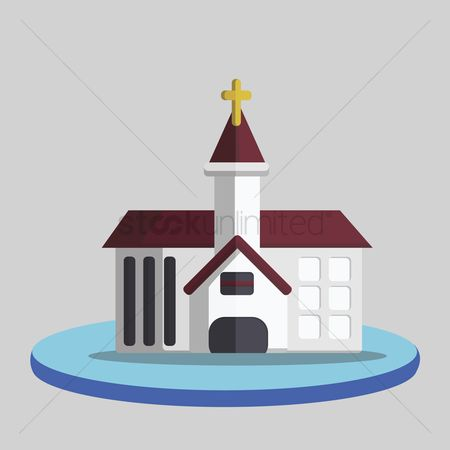 庆典 : Illustration of a church