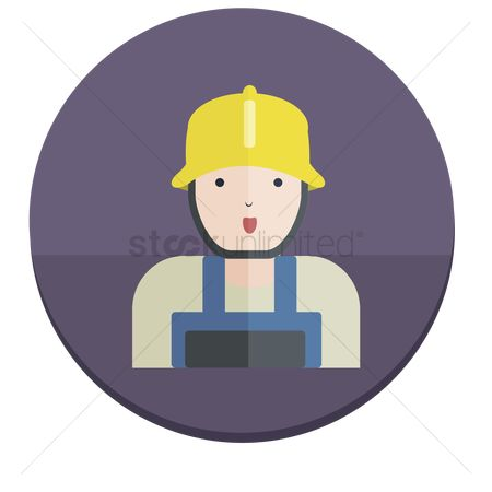 漫画 : Illustration of a construction worker