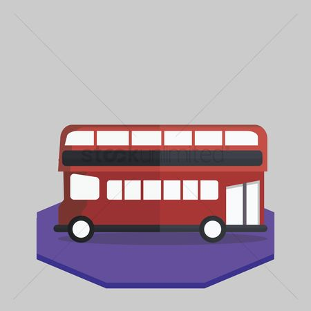 花色 : Illustration of a double-decker bus