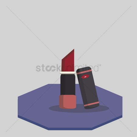 美女时尚 : Illustration of a lipstick