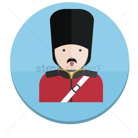 漫画 : Illustration of a london guard