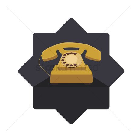 葡萄收获期 : Illustration of a rotary phone