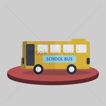 学校 : Illustration of a school bus